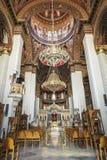 Интерьер церков St Катрина Синая - православной церков церков в ираклионе, Крите Стоковые Изображения RF
