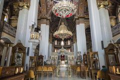 Интерьер церков St Катрина Синая - православной церков церков в ираклионе, Крите Стоковые Изображения