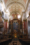 Интерьер церков St Ignatius в Праге Стоковое Изображение RF