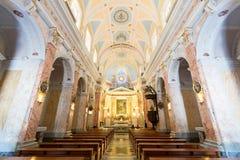Интерьер церков St Peter в старой Яффе, Израиле Стоковые Фотографии RF