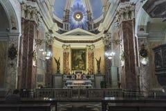 Интерьер церков St Peter в Яффе, Израиле Стоковое Фото