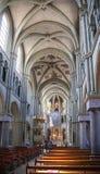 Интерьер церков St Peter и Пола в Bern Стоковое Изображение