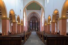 Интерьер церков St. Suitbertus в Kaiserswerth Стоковые Фотографии RF
