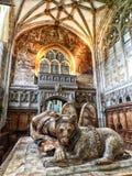 Интерьер часовни церков marys Святого в warwick в Англии Стоковые Изображения RF