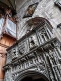 Интерьер часовни церков marys Святого в warwick в Англии Стоковые Изображения