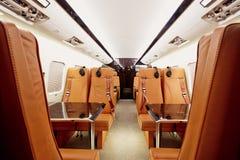 Интерьер частного самолета стоковые фотографии rf