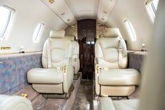 Интерьер частного самолета стоковое фото rf