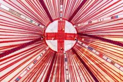 Интерьер шатра кочевника или yurt стоковое фото