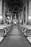Интерьер шведской церков. стоковое фото rf