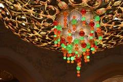 Интерьер шейха Zayed Больш Мечети в Абу-Даби стоковые изображения