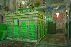 Интерьер шиит мечети в Yazd Стоковые Фото