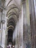 Интерьер шикарного, старого французского собора Стоковое Изображение
