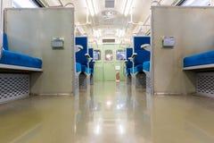 Интерьер электропоезда с transportat дела свободных мест Стоковая Фотография