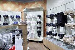 Интерьер яркого магазина нижнего белья Стоковое Изображение RF