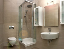 интерьер 2 ванных комнат Стоковое фото RF