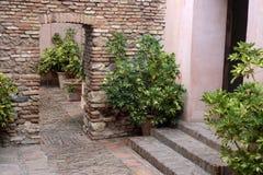 Интерьер Alcazaba Стоковое Фото