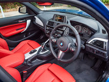 Интерьер BMW M140i 2017 Стоковые Фотографии RF