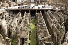 Интерьер Colosseum Рима Стоковая Фотография
