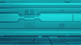 интерьер 3d представляет футуристическая прихожая Внутренний дизайн концепции иллюстрация штока
