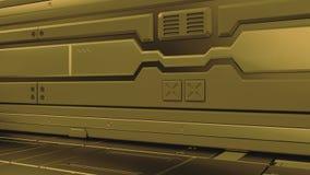интерьер 3d представляет футуристическая прихожая Внутренний дизайн концепции иллюстрация вектора