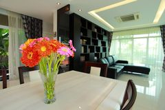 Интерьер dinning комнаты стоковое фото rf