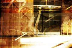 интерьер grunge авиапорта Стоковое фото RF