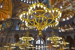 Интерьер Hagia Sophia на Стамбуле Турции Стоковые Фото