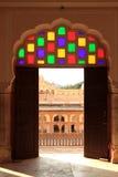 Интерьер Hawa Mahal (дворца ветра) в Джайпуре, Индии Стоковое Изображение