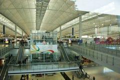 интерьер Hong Kong авиапорта Стоковые Изображения RF