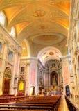 интерьер lisboa фиоритуры церков Стоковые Изображения RF