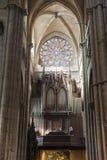 интерьер lyon Франции собора Стоковое Изображение RF