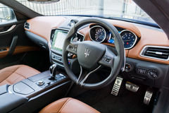 Интерьер Maserati Ghibli s Стоковое фото RF