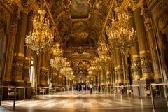 Интерьер Palais Garnier: Грандиозное фойе Стоковые Фотографии RF
