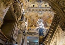 Интерьер Palais Garnier Стоковые Изображения
