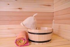 Интерьер Sauna Стоковые Фотографии RF