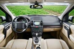 Интерьер SUV Стоковое Изображение