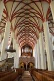 Интерьер Thomaskirche в Лейпциге Стоковое Изображение RF