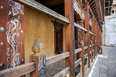 Интерьер Trongsa Dzong в Бутане Стоковая Фотография RF