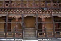 Интерьер Trongsa Dzong в Бутане Стоковое Изображение RF
