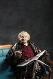 Интеллектуальный старик Стоковые Фото