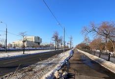 Интеллектуальный центр-- Основная библиотека в государственном университете Lomonosov Москвы (написано в русском), Россия Стоковая Фотография