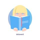 Интровертируйте изображение Застенчивая, противоречная персона Стоковая Фотография