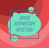 Инфекция текста сочинительства слова верхняя дыхательная Концепция дела для болезней причиненных острой инфекцией несимметричной иллюстрация штока