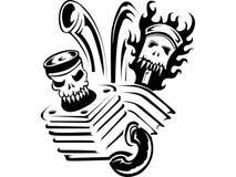 инфернальный tattoo мотора Стоковые Изображения