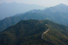 Инфинитно длинная Великая Китайская Стена Стоковые Изображения