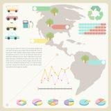 Информативная диаграмма Стоковые Изображения RF