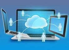 Информационная память группы в облаке вычисляя, иллюстрация вектора
