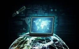 Информационная технология информации в интернете стоковое фото rf