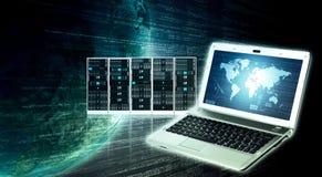 Информационная технология информации в интернете стоковая фотография rf