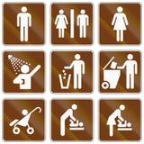 Информационные дорожные знаки Соединенных Штатов MUTCD Стоковое фото RF